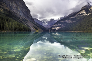 Lake louise, layers, canadian rockies, reflection, green water, banff national park, alberta, canada
