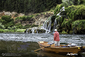 Fly-fishisher Jim Osterhout, casting for the illusive Fall Creek Falls trout on the South Fork of the Snake River