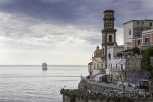 Amalfi coast, atrani, five masted schooner, royal clipper, clipper ship, antiquity