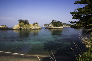 Dogashima Beach, Izu Peninsula, japan, sea stacks, clear water, diving destination, blue sky