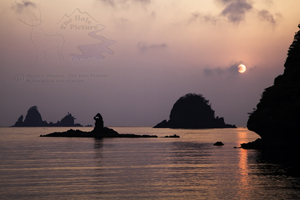 Izu Sunset, Izu Peninsula, japan, smoky sky, orange sky,