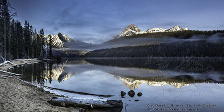 Redfish Lake Reflection, Stanley Idaho, Sawtooth National Recreation Area