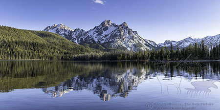 Stanley Lake Reflection, Sawtooth National Recreation Area, Mount McGowen, Stanley, Idaho
