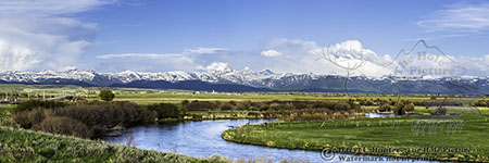 Teton River, Grand Tetons, Teton Valley, Idaho