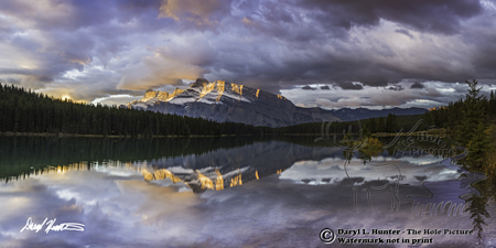 Sunrise, reflection, Two Jack Lake, Banff National Park, Alberta, Canada