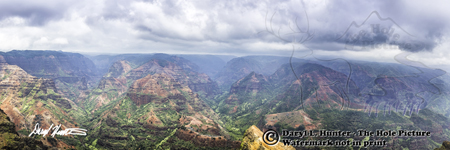 Waimea Canyon Panorama, Island of Kauai, Hawaii