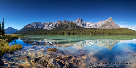 Lower Waterfoul Lake, Panorama, Canadian Rockies, Alberta, Banff National Park, Canada