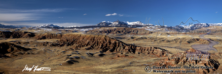 Badlands, Dubois, Wyoming, Absaroka Mountains, Panorama Landscape, Wyoming,