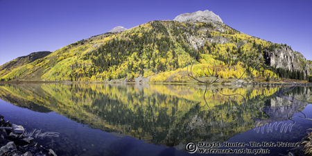 Crystal Lake, reflection, San Juan Mountains, Autumn, Colorado, landscape photographer, panorama landscape