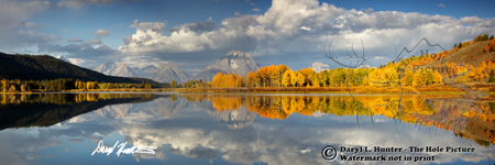 Autumn, Grand Tetons, Oxbow Bend, Jackson Hole, Grand Teton National Park, Panorama Print