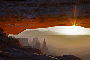 Mesa Arch, glow, starburst, sunrise, Canyonlands National Park, Moab, Utah