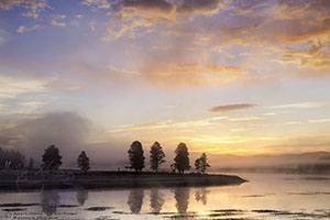 Yellowstone River Sunrise, Hayden Valley, Yellowstone National Park