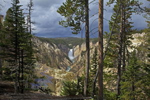 Lower Yellowstone Falls, Artist's Point, natural frame, grand canyon of the yellowstone river, Yellowstone National park