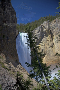 Lower Yellowstone Falls, closeup, canyon, Uncle Tom's Trail, Yellowstone National Park