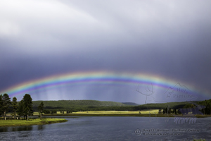Rainbow, Yellowstone River, thunderstorm, promise, Hayden Valley, Yellowstone National Park, clearing storm, rain