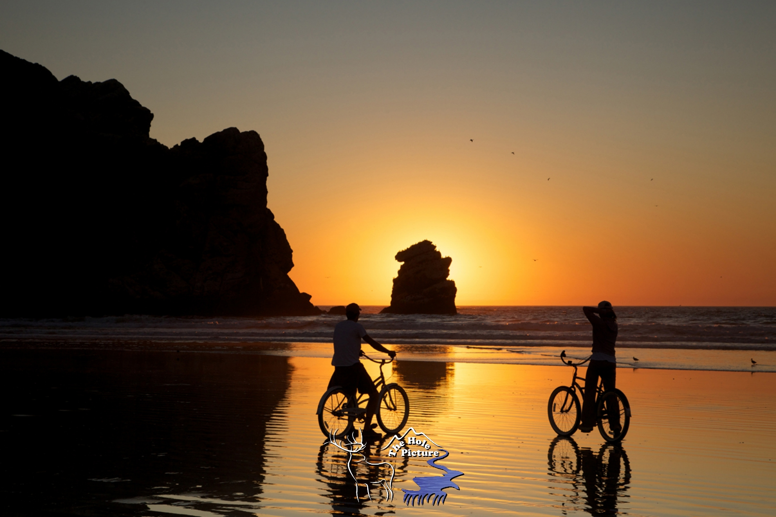 Bicyclers, Morro Bay Sunset