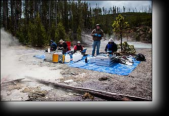 Researchers, scientists, Thermophile, Yellowstone National Park